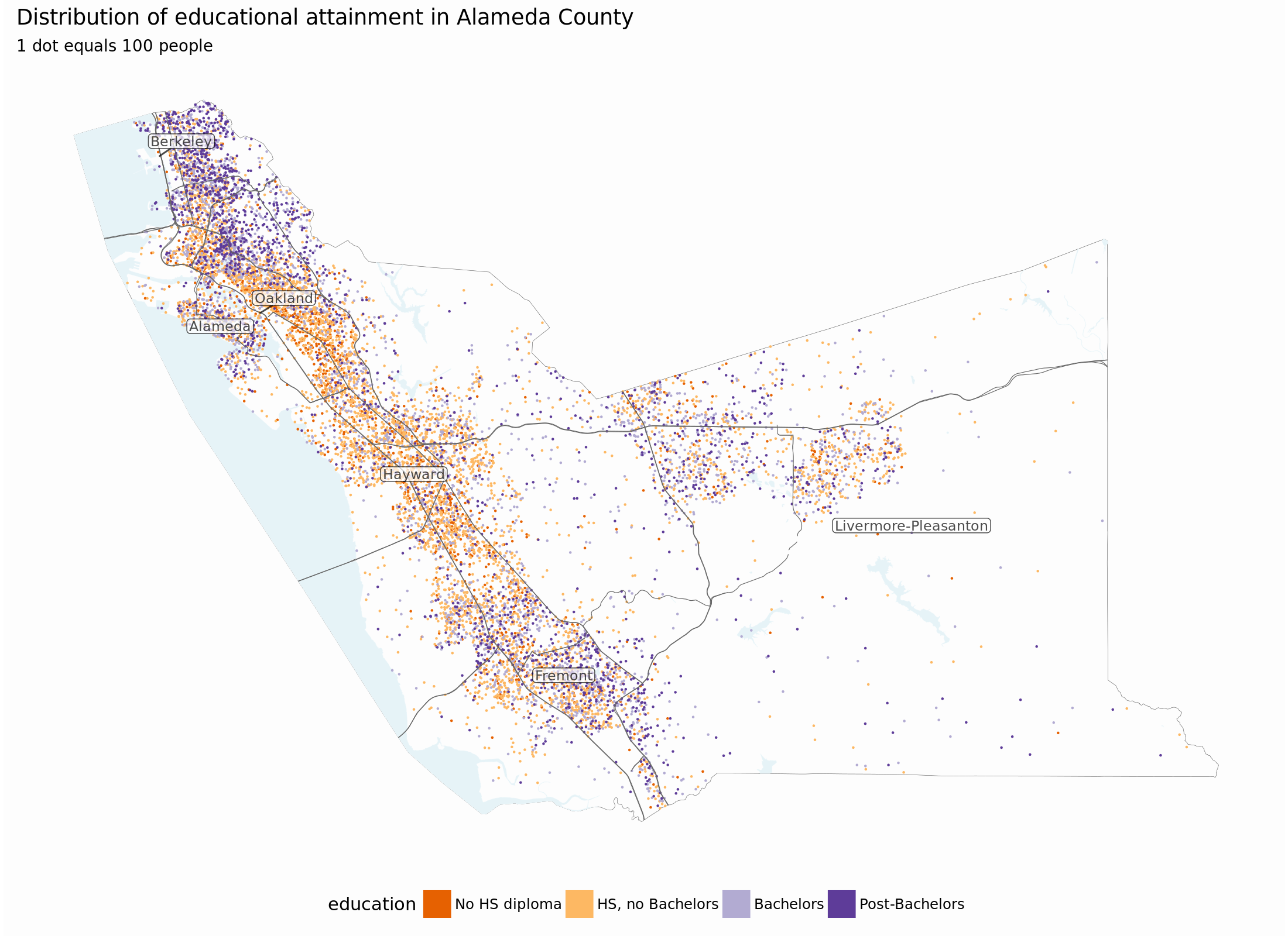 TS - Dot-density maps with sf Dot Density Map on